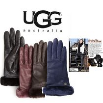 UGG Australia Plain Leather Gloves Gloves