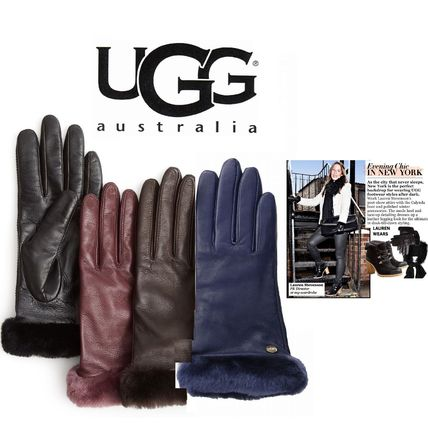 Plain Leather Gloves Gloves