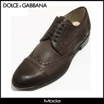 Dolce & Gabbana Wing Tip Plain Leather Oxfords