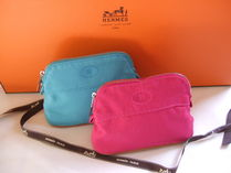 HERMES Bolide Unisex Plain Pouches & Cosmetic Bags