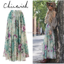 Chicwish Flower Patterns Maxi Long Home Party Ideas Maxi Skirts