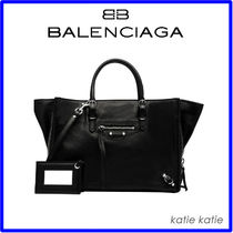 BALENCIAGA PAPIER A4 Plain Leather Totes