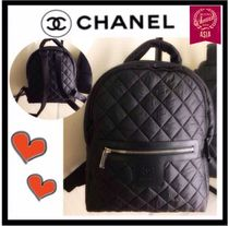 CHANEL COCO COCOON Unisex Nylon A4 Plain Backpacks