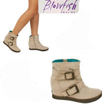 Blowfish Wedge Plain Toe Wedge Boots