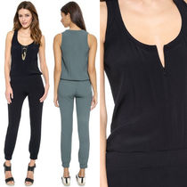 Ron Herman Sleeveless Plain Long Party Style Jumpsuits & Rompers