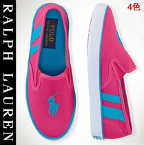 Ralph Lauren Platform Plain Slip-On Sneakers