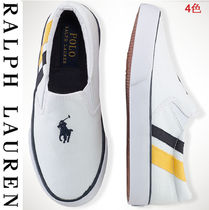 Ralph Lauren Unisex Plain Slip-On Sneakers