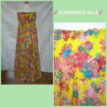 Primark Flower Patterns Flared Cotton Long Dresses