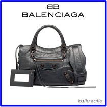 BALENCIAGA CITY Plain Leather Handbags