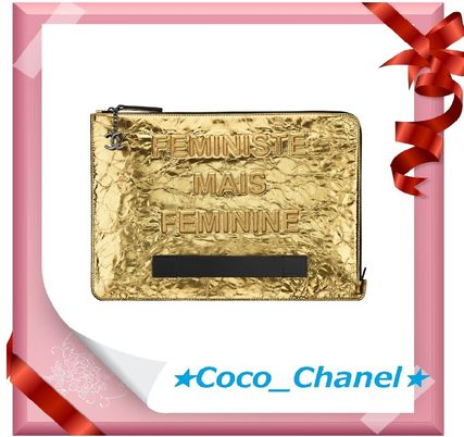 CHANEL Clutches Leather Clutches