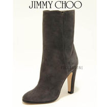Jimmy Choo Suede Plain Block Heels Ankle & Booties Boots