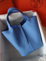 HERMES Casual Style Plain Leather Handmade Elegant Style