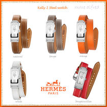 HERMES Kelly Leather Square Accessories