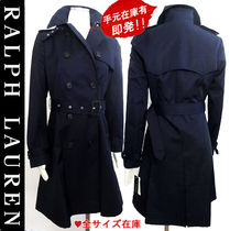 Ralph Lauren Dots Long Trench Coats