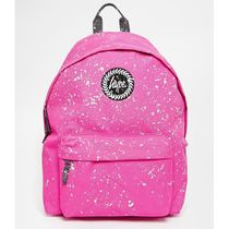Hype Dots Canvas Street Style A4 Plain Backpacks