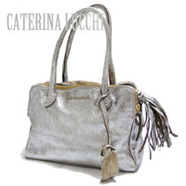 CATERINA LUCCHI 2WAY Plain Leather Shoulder Bags