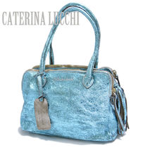 CATERINA LUCCHI Tassel 2WAY Plain Leather Shoulder Bags