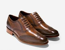 Cole Haan Wing Tip Plain Leather Oxfords