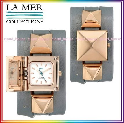 Leather Square Analog Watches