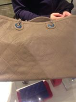 CHANEL ICON Beige/SHW Caviar Skin CC Shopping Bag