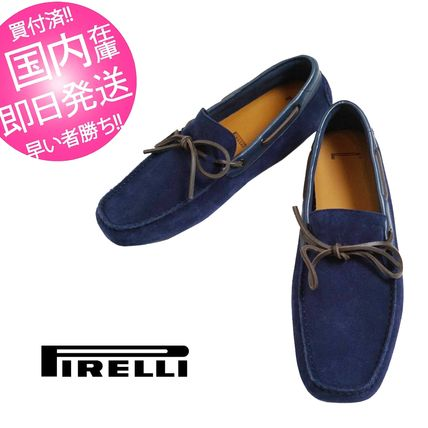 Suede Blended Fabrics Plain Deck Shoes Loafers & Slip-ons