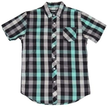 Button-down Other Check Patterns Street Style Short Sleeves