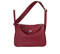HERMES Lindy Lindy 34 taurillon clemence leather in ruby handbag