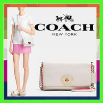 Coach Chalk White Whiplash Pop Racing Crosstown Shoulder Bag