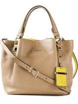 TOD'S D-Styling Calfskin Tassel 2WAY Bi-color Totes