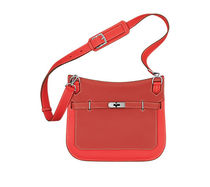 HERMES Jypsiere Rose jaipur & sanguine jypsiere 28 leather shoulder bag
