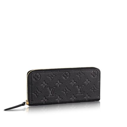Louis Vuitton Monoglam Unisex Leather Long Wallets