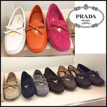 PRADA Plain Toe Casual Style Suede Plain Pumps & Mules