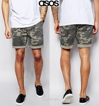 ASOS Printed Pants Camouflage Street Style Shorts