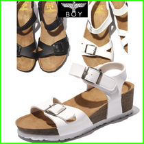 BOY LONDON Open Toe Faux Fur Street Style Footbed Sandals Flat Sandals