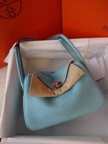 HERMES Blue Atoll/SHW Taurillon Clemence Lindy 26 Bag