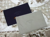 HERMES Yachting Unisex Canvas Plain Clutches