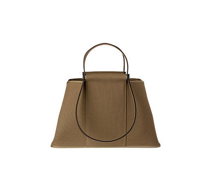 HERMES Totes Cabag Elan in Etoupe grey & ebene canvas tote bag