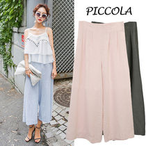 Linen Plain Medium Culottes & Gaucho Pants