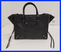BALENCIAGA PAPIER A4 2WAY Plain Leather Party Style Totes