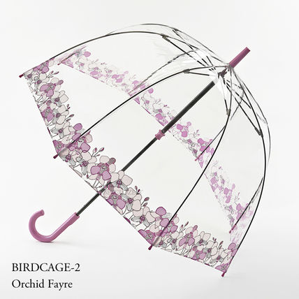 Bird Cage Orchid Fair Length Umbrella Floral Pattern