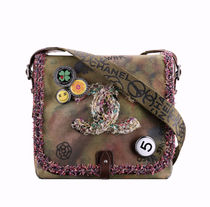 CHANEL ICON Camouflage Canvas Street Style 2WAY Shoulder Bags