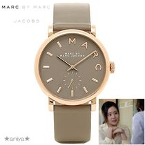 Marc by Marc Jacobs Leather Round Quartz Watches Analog Watches