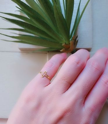 Gold plating Ring with Cross ~nol~