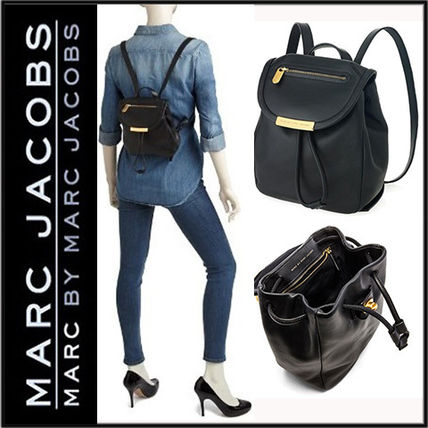 huge range of top-rated genuine get cheap Marc by Marc Jacobs Street Style 2WAY Plain Leather Purses Backpacks