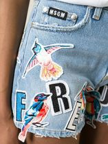 MSGM Short Casual Style Street Style Other Animal Patterns Cotton