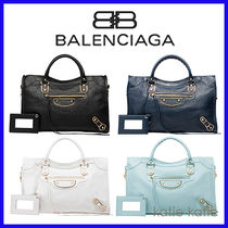 BALENCIAGA CITY A4 2WAY Plain Handbags