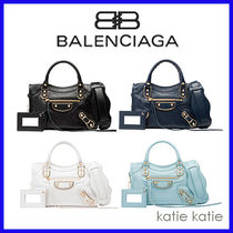 BALENCIAGA CITY 2WAY Plain Handbags