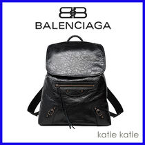 BALENCIAGA Plain Backpacks