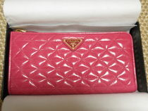 PRADA SAFFIANO VERNICE Leather Party Style Long Wallets