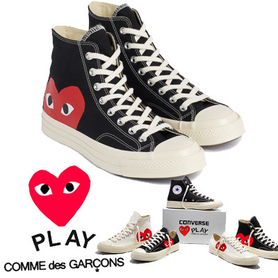 COMME des GARCONS Low-Top New-Play Converse-Chuck Taylor ' 70 High Black unisex
